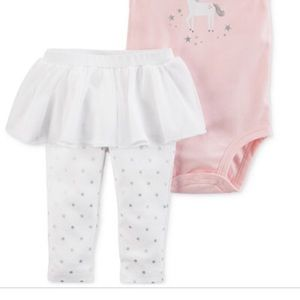 Matching Sets - Carters 2 piece unicorn outfit